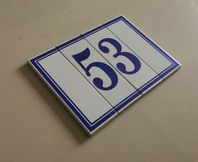 Numeri civici componibili ceramiche di cola